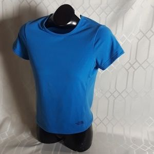 The North Face blue vapor wick blue shell top M